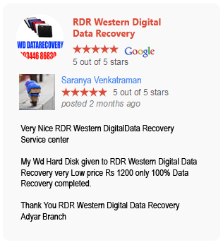 RDR Western Digital Data Recovery google review